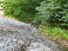 Rock Climbing Photo: Jim follows Found-A-Line