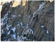 Rock Climbing Photo: Very minimal ice on Oct. 30, 2011.