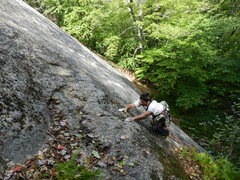 Rock Climbing Photo: Pulling onto the small ledge...