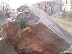 Rock Climbing Photo: This is a picture of Taylor doing the left finish ...