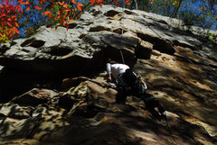 Rock Climbing Photo: Naomi heading up.  May help pinning down exact loc...