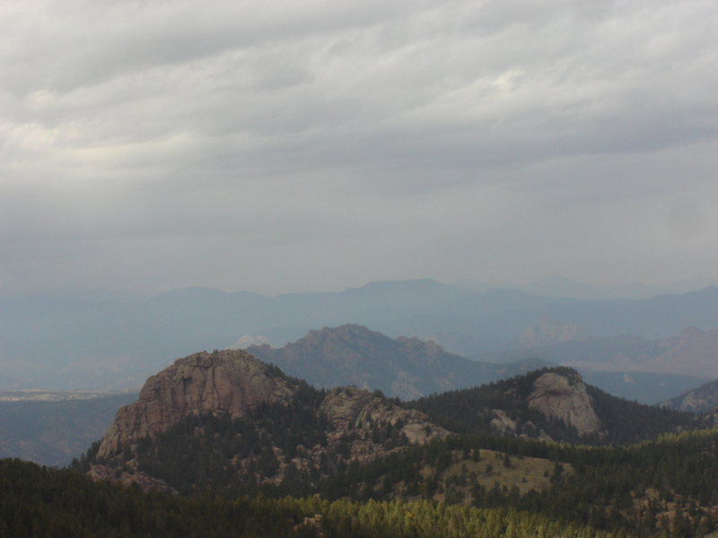 Rock Climbing Photo: A friend and I hiked to the dome on the left from ...
