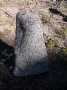 Rock Climbing Photo: Found this random piece of salt and pepper granite...
