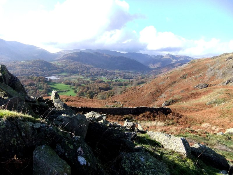Rock Climbing Photo: From Loughrigg looking towards the Langdale Pikes....