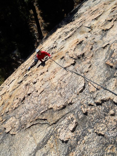 Rock Climbing Photo: Extremely cool patina and chicken-heads reduce mos...