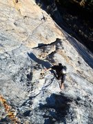 Rock Climbing Photo: An unknown face climb between Friction Dandy and L...