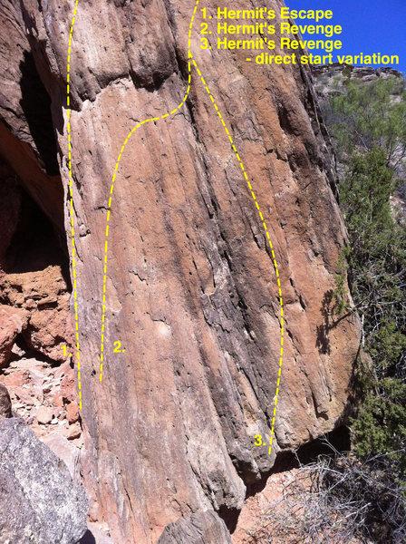 Rock Climbing Photo: Hermit's Revenge