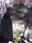 Rock Climbing Photo: Line tells path of the problem