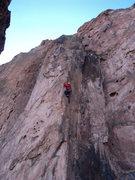 Rock Climbing Photo: Dave around the crux.