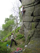 Rock Climbing Photo: One of the hard moves