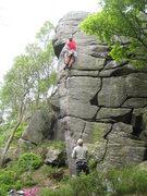 Rock Climbing Photo: Above the crux (photo by Phil Ashton)