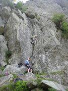 Rock Climbing Photo: The initial groove on Gazebo (photo by Phil Ashton...
