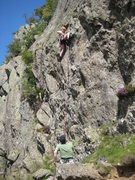 Rock Climbing Photo: The initial wall on Direct Route (photo by Phil As...