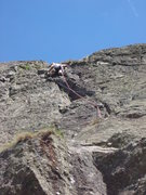 Rock Climbing Photo: The upper part of Direct Route