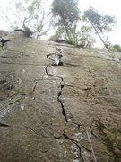 Rock Climbing Photo: The upper cracks on Zapple