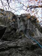 Rock Climbing Photo: The line....