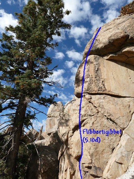 Flibbertigibbet (5.10d), Holcomb Valley Pinnacles