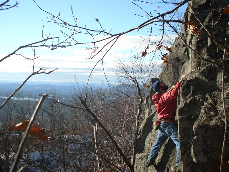 Rock Climbing Photo: On the FA of Stoned