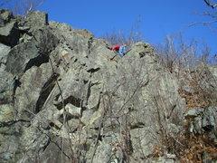 Rock Climbing Photo: At the ledge...