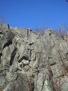 Rock Climbing Photo: going up through the easy blocky top...