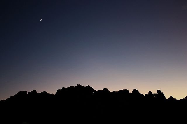 Rock Climbing Photo: Last light over Lost Horse, Joshua Tree NP