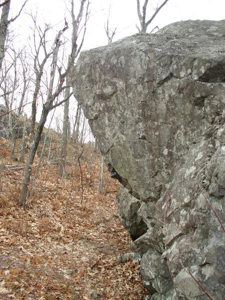 Rock Climbing Photo: The Hawk Block
