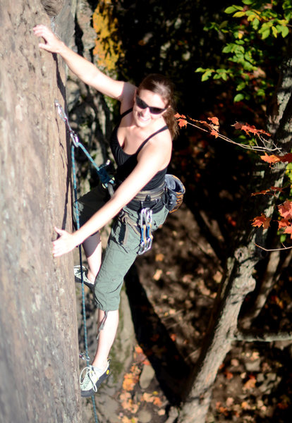 Liz just basking in the sun, fun route