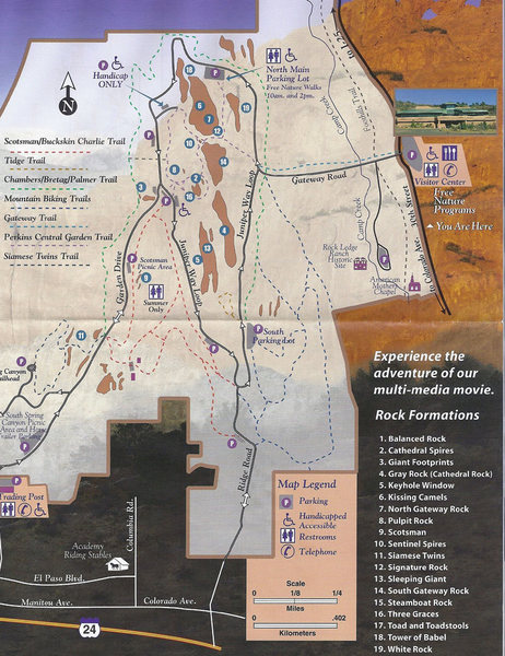 Map as handed out at the Visitor Center.
