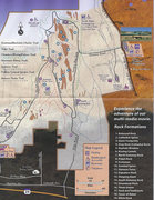 Rock Climbing Photo: Map as handed out at the Visitor Center.