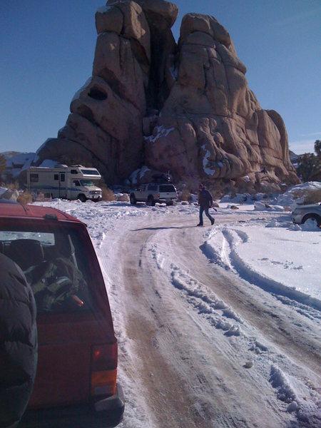 Rock Climbing Photo: let it snow 2
