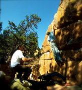 Rock Climbing Photo: Dyno-Mite!