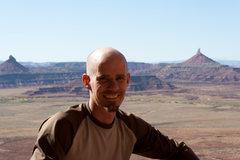 Rock Climbing Photo: Me near Sacred Cow Wall