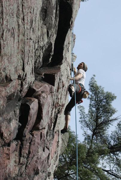 Balanced rock, 5.11<br> Devils lake, WI