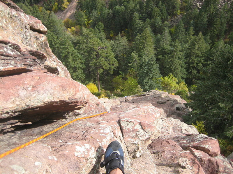 3rd flat iron, East face left, 2nd pitch<br> Boulder, CO