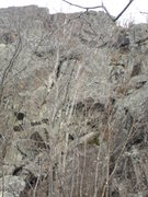 Rock Climbing Photo: A real bad pic, but you can see the large crack.