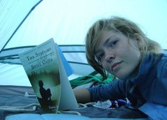 Rock Climbing Photo: snuggling with a book in west glacier.