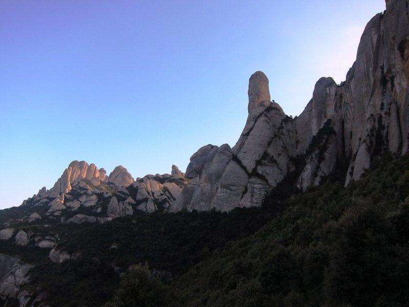 Rock Climbing Photo: Cavall Bernat from the Sant Cecila approach trail