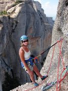 Rock Climbing Photo: Final pitch belay/rappel station on Via Normal on ...