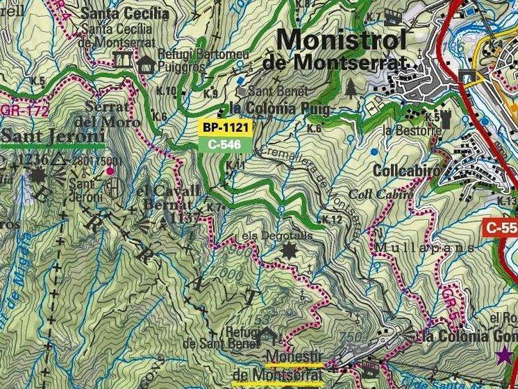 Area Map - Montserrat map