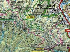 Rock Climbing Photo: Montserrat area map