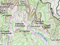 Rock Climbing Photo: Cavall Bernat location map at Montserrat