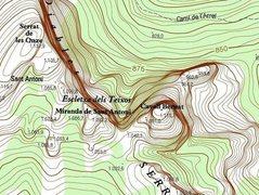 Rock Climbing Photo: Close up map of Cavall Bernat