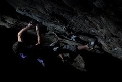 "Rock Climbing Photo: Aaron James Parlier on the 2nd ascent of ""SLS..."