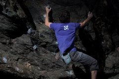 """Rock Climbing Photo: Aaron James Parlier on the 2nd ascent of """"SLS..."""