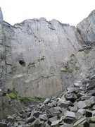 Rock Climbing Photo: The 250' high back wall of California, taken by Ce...