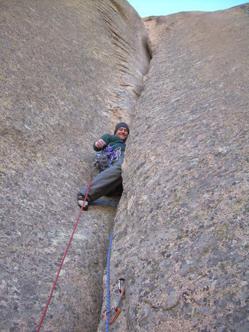 Rock Climbing Photo: P2 Abra.  Hate Send link p2-3.
