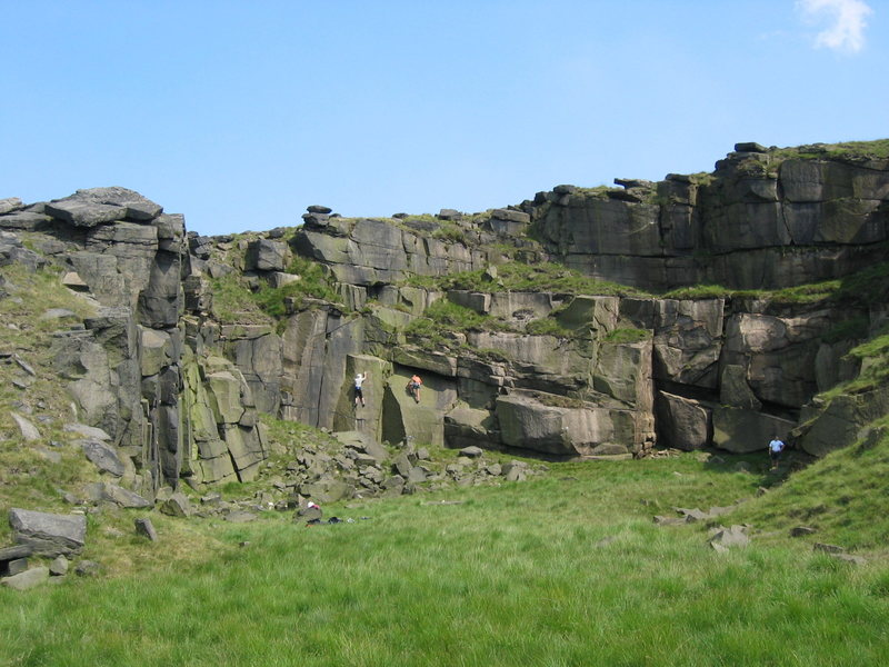 The smallest of the pits, Sixth Quarry (photo by Phil Ashton)