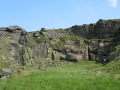 Rock Climbing Photo: The smallest of the pits, Sixth Quarry (photo by P...