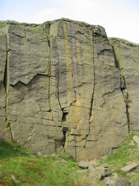 Rock Climbing Photo: Plumb Line is the crack just right of centre that ...
