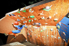 Rock Climbing Photo: New Feature on the Wall built specifically to hold...